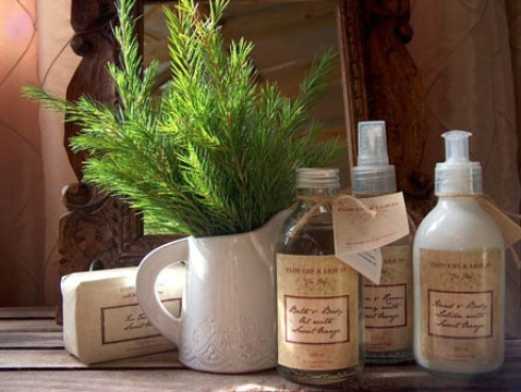 Lavender toiletries